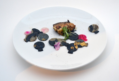 Jung Hur Black cod gold leaf truffle pasta - Copy